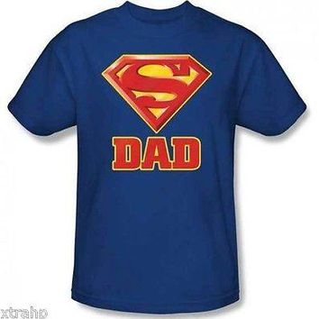 DC Comic Superman Super Dad Father Day Adult Men T-Shirt LICENSED
