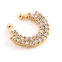 Two Rows Fashion Fan Nose Septum Ring