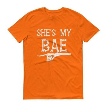 Men's She is my BAE shirt , Funny Halloween shirt for him
