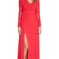 Alice by Temperley Long Macey Dress in Red