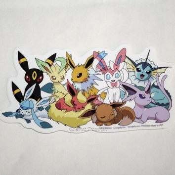 "Licensed cool Pokemon GO EEVEE Evolutions ""Sleepy"" Diecut Vinyl Wall STICKER Nintendo NEW"