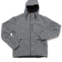 Men's fleece lined hooded wool jacket - Vindur - 66°NORTH