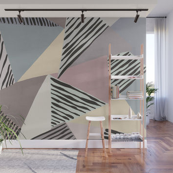 Modern irregular Stripes 03 Wall Mural by vivigonzalezart