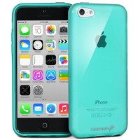 Fosmon DURA-CANDY Glossy Series (Frost Matte Inside) Ultra SLIM-Fit Case Flexible TPU Cover for New Apple iPhone 5C (2013) - Glossy Teal
