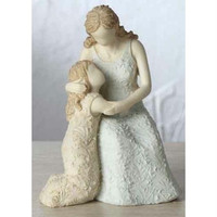 "4 Mother And Daughter Figures - 4.5 "" H X 3.375 "" W X 3.265 "" D"