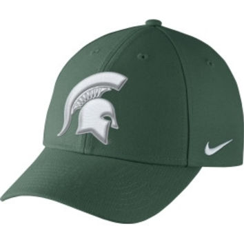 NCAA Michigan State Nike Mens Spartans Green Dri-FIT Wool Classic Adjustable Hat