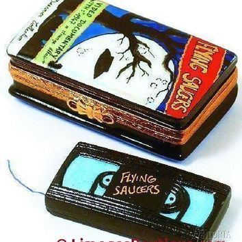 Video Cassette:Flying Saucer Limoges Boxes ( RETIRED - Last Ones )