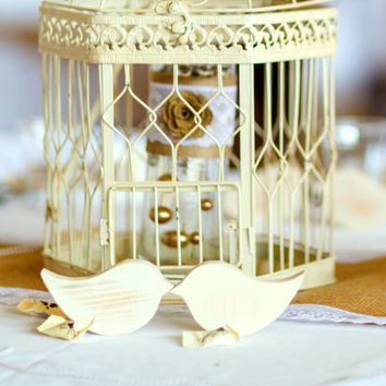 25 Bulk Wooden Love Birds for Weddings. Table Decor, Favors, Cake Topper; Unfinished, Painted, or Painted & Distressed