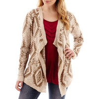 Arizona Long-Sleeve Aztec Print Cardigan - Plus