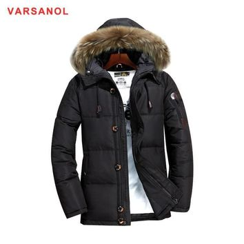 Trendy Varsanol Hooded Coat Winter Jackets Man Thickness Down Jacket With Hat Casual Mens Warm Outwear New Arrivals Down Jackets 3XL AT_94_13