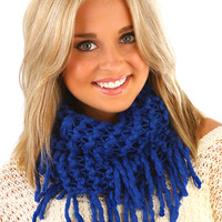 Hold On Tight Scarf: Royal Blue - One