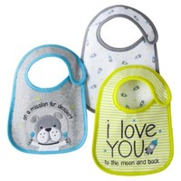 Carter's Baby Bib Set ' on a mission for dessert ' 3 space Bibs