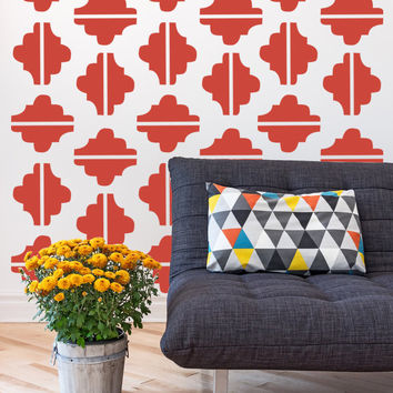 Wall Decals Retro Geometric Mod Mid Century Modern Shapes Pattern Abstract Home Decor