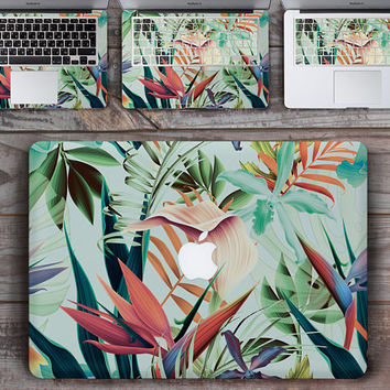 Leaves Vinyl Laptop Decal Vinyl Laptop Sticker Laptop Skin Laptop Case Decal Computer Floral Macbook 12 Inch Skin Macbook Air Sticker SK3112