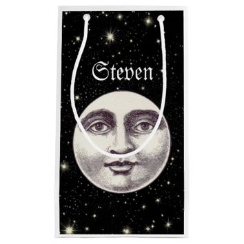 Victorian man in the moon gift bag