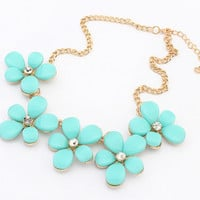 Shiny Jewelry Gift New Arrival Stylish Metal Floral Necklace [6586305415]