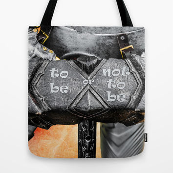 Medieval knight - Click,  Click Tote Bag by Digital2real
