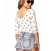 Polka Dot Stretch-Fit Top | FOREVER 21 - 2060943733