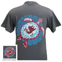 South Carolina Gamecocks Turtle Shell Wave Girlie Bright T Shirt