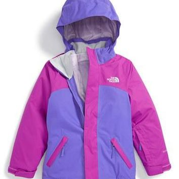 The North Face Girl's 'Abbit' Waterproof Hooded?TriClimate 4-in-1 Jacket,