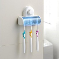 Creative Teethbrush Rack Multi-functioned Couple Toothbrush Holder [6033506369]
