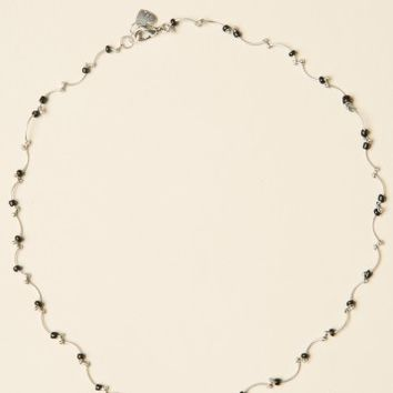 SILVER CURVED CHOKER NECKLACE