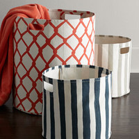 Selby Canvas Storage Bins
