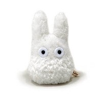 "Studio Ghibli My Neighbor Totoro 4.5"" White Totoro Bean Filled Plush By Sun Arrow"