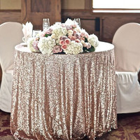 Champagne Sequin Tablecloth, Sequin TableCloth Wholesale Sequin Table Cloths Sparkly Champagne Table Sequin Linens