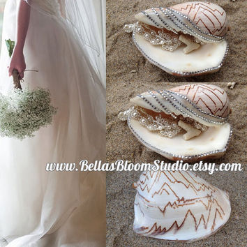 Beach Wedding Decorations Sea Shell Ring Pillow Ring Bearer Pillow Shell Ring Pillow,Beach Ring Pillow,beach wedding,Ring Bearer Pillow etsy
