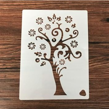 1PC Snowflake tree flower Shaped Reusable Stencil Airbrush Painting Art DIY Home Decor Scrap booking Album Crafts