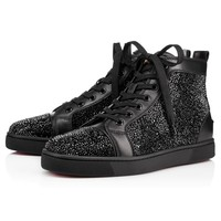 Louis Strass Men's Flat Black Strass