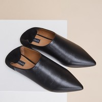 JAGGAR FOOTWEAR ON POINT FLAT black