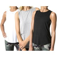 Women's Sexy Cutout Backless Piecing Tank Tops Sleeveless Yoga Fitness Vest  Shirts Casual Loose Running Sports Tanks Tops
