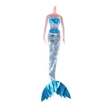 Swimming Pool beach 1set Doll Party Dress Doll Swimming Clothes Gown Skirt Mermaid Dress Child Gift Best Girl' Doll Cosplay For Barbie PrincessSwimming Pool beach KO_14_1