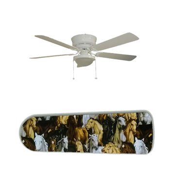 "Wild Horses Horse 52"" Ceiling Fan and Lamp"
