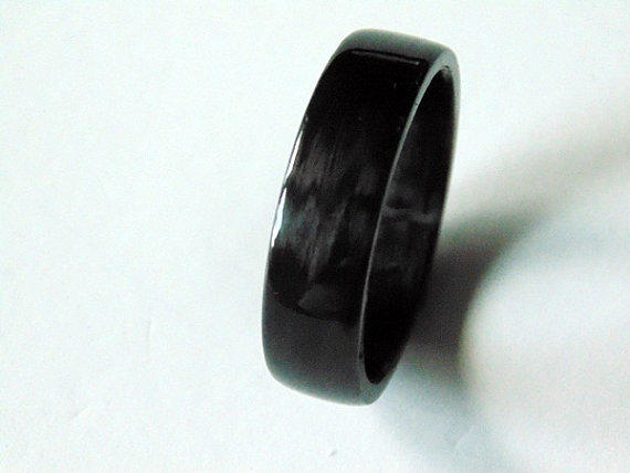 Carbon fiber wedding band handwrapped from for Carbon fibre wedding ring