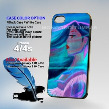 Pocahontas Paint, Photo On Hard Plastic iPhone 4 4S Case