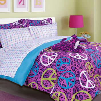 Kids Bedding - ANNIE Pink Leopard  Bed in a Bag Comforter Set