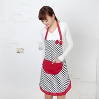 DCCKU7Q Super Deal Hot Selling Cute BowKnot Women Kitchen Restaurant Bib Cooking Aprons With Pocket  &282