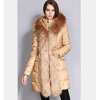 Long paragraph in the new fashion down jacket cotton padded jacket