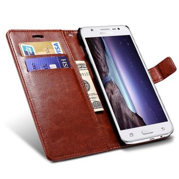 Wallet Flip Case For Samsung Galaxy J5 J500h Broncos PU Leather Cover With Card Holders Coque Phone Bag Black Capinha