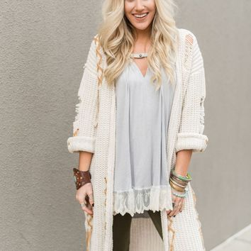 Folk Town Duster Sweater
