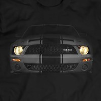 Mustang Shelby GT500 The Cobra Headlights Glow Black T-Shirt Holiday Gift Birthday