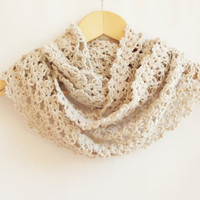 Infinity Scarf, Hand Knit