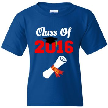 TurnTo Designs - Graduation Class 2016 and Cap with Monogram Vinyl T-Shirt