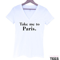 Take Me to Paris V-Neck Tee