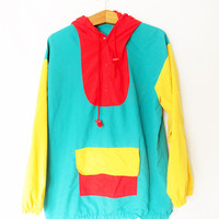 Vintage Colorblock Pullover Windbreaker Jacket