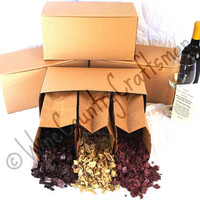 """BBQ SAMPLER - """"Wine Soaked Chips"""" - Wine Barrel Barbecue Chips Sampler Box - 100% recycled"""