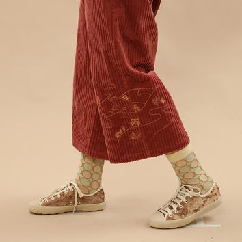 Tyakasha Park Corduroy Wide Legged Pants